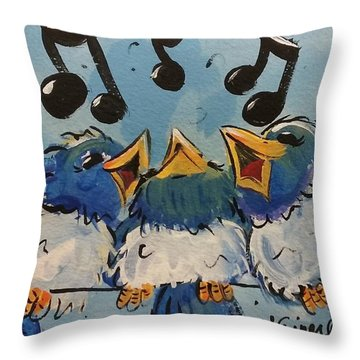 Make A Joyful Noise Throw Pillow