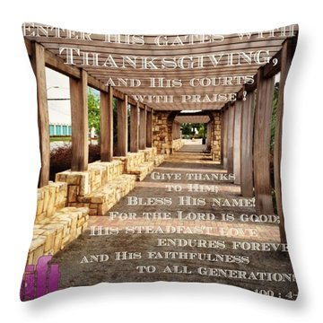 Make A Joyful Noise To The Lord, All Throw Pillow