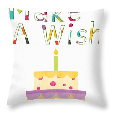 Make A Wish- Art By Linda Woods Throw Pillow