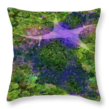Throw Pillow featuring the digital art Make A Wish by Claire Bull