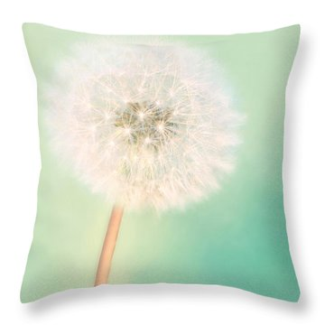 Make A Wish - Large Throw Pillow by Amy Tyler