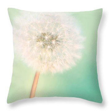 Throw Pillow featuring the photograph Make A Wish - Square Version by Amy Tyler