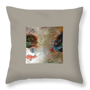 Make Art Not War Throw Pillow