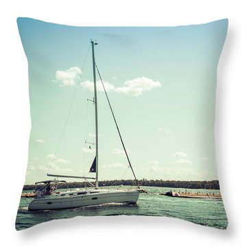 Throw Pillow featuring the photograph Make Headway by Joel Witmeyer