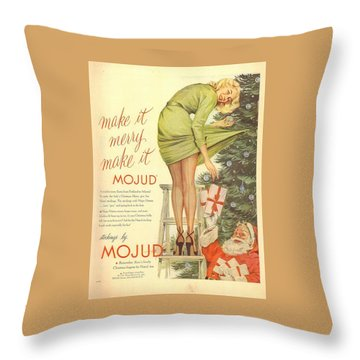 Make It Merry...make It Mojud Throw Pillow