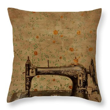 Make It Sew Throw Pillow