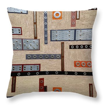 Make Mine Metal Throw Pillow by Tara Hutton
