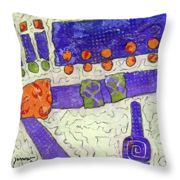 Make New Friends Throw Pillow by Sue Furrow