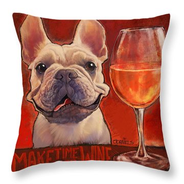 Make Time For Wine Throw Pillow