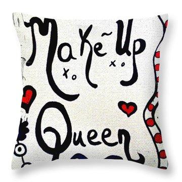 Make-up Queen Throw Pillow