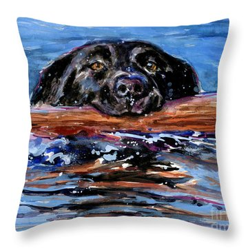 Throw Pillow featuring the painting Make Wake by Molly Poole