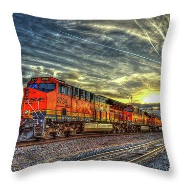Make Way Resting B N S F Train Gallup New Mexico Art Throw Pillow