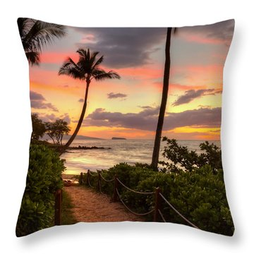 Makena Sunset Path Throw Pillow