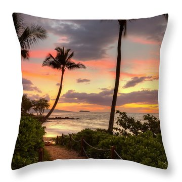 Makena Sunset Path Throw Pillow