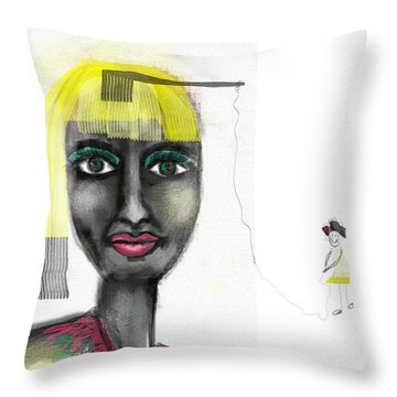 Makeover Throw Pillow by Sladjana Lazarevic