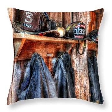 Fire Station Throw Pillows