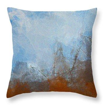 Throw Pillow featuring the digital art Making A Splash by Constance Krejci