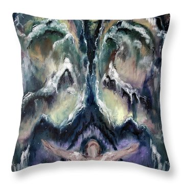Making Angels 2 - The Wings Throw Pillow