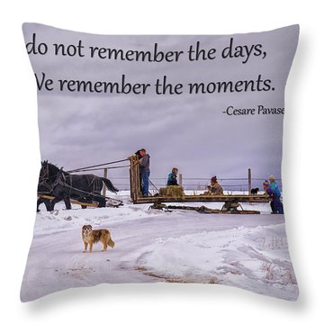 Making Family Memories Throw Pillow by Priscilla Burgers