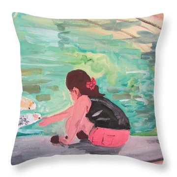 Making Friends Throw Pillow