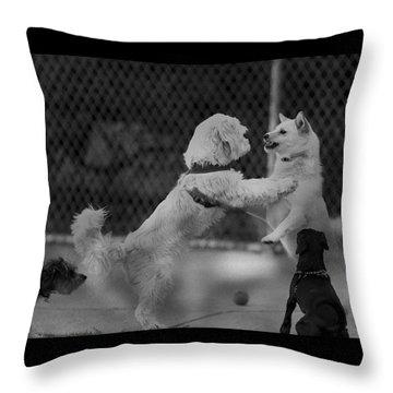 Making Friends Throw Pillow