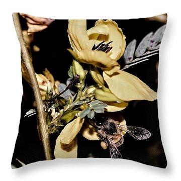 Making Honey Throw Pillow