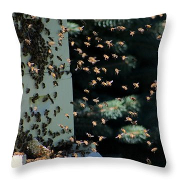 Making Honey - Portrait Throw Pillow