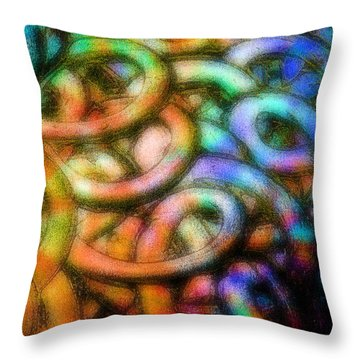 Making Memories Throw Pillow by Gwyn Newcombe