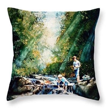 Making Memories Throw Pillow by Hanne Lore Koehler