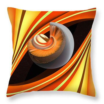 Throw Pillow featuring the digital art Making Orange Planets by Angelina Vick