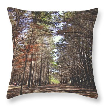 Throw Pillow featuring the photograph Making Our Way Through by Laurie Search