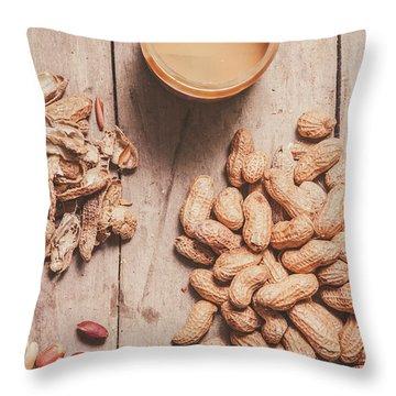 Making Peanut Butter Throw Pillow