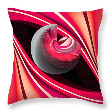 Throw Pillow featuring the digital art Making Pink Planets by Angelina Vick