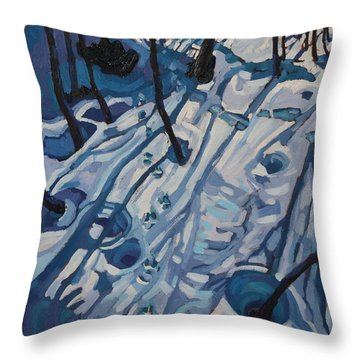 Making Tracks Throw Pillow by Phil Chadwick