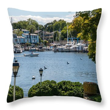 Making Way Up Creek Throw Pillow