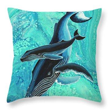 Throw Pillow featuring the painting Makuwahine Aloha by Darice Machel McGuire