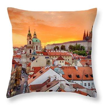 Throw Pillow featuring the photograph Mala Strana by Fabrizio Troiani