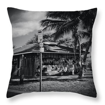 Throw Pillow featuring the photograph Mala Wharf Showers Lahaina Maui Hawaii by Sharon Mau
