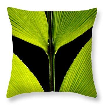 Malachite Flute Throw Pillow
