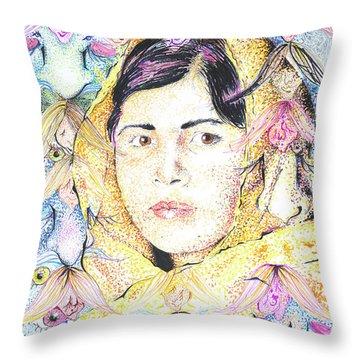 Malala-don't Ignore Us-sombra De Arreguin Throw Pillow