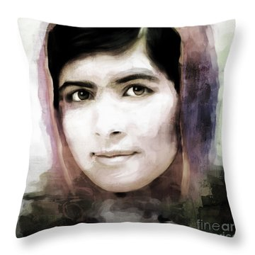 Malala Yousaf Zai 10 Throw Pillow