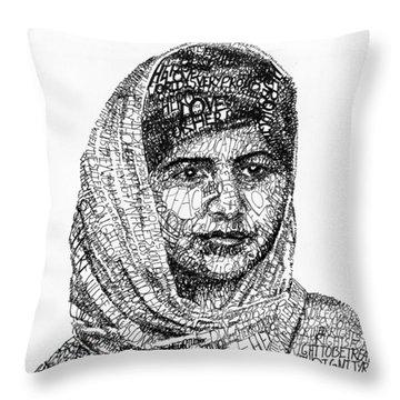 Malala Yousafzai Throw Pillow