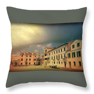 Throw Pillow featuring the photograph Malamacco Massive Cloud by Anne Kotan