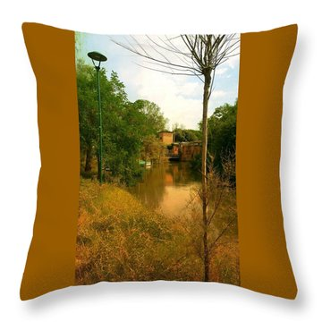Throw Pillow featuring the photograph Malamocco Canal No2 by Anne Kotan