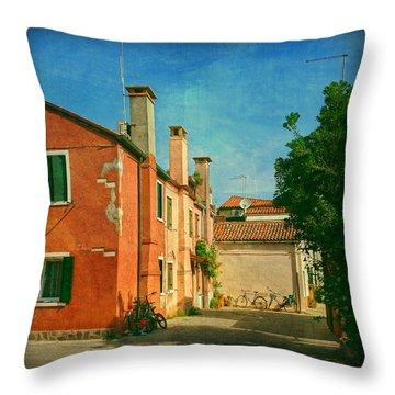 Malamocco Corner No1 Throw Pillow by Anne Kotan