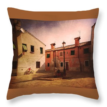 Throw Pillow featuring the photograph Malamocco Corner No2 by Anne Kotan