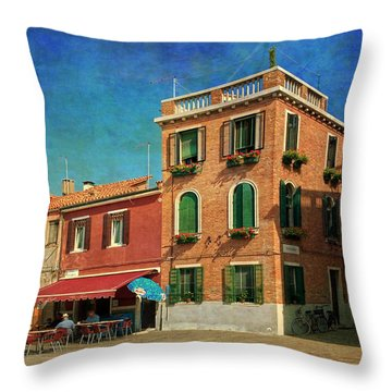Throw Pillow featuring the photograph Malamocco Corner No3 by Anne Kotan
