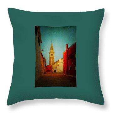 Malamocco Dusk No1 Throw Pillow by Anne Kotan
