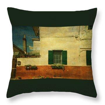 Malamocco Facade No1 Throw Pillow by Anne Kotan