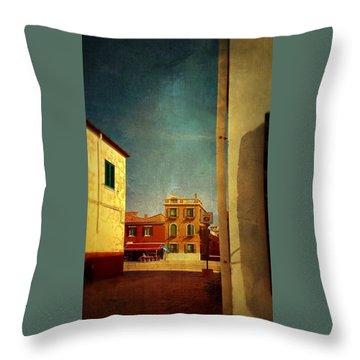 Malamocco Glimpse No1 Throw Pillow by Anne Kotan